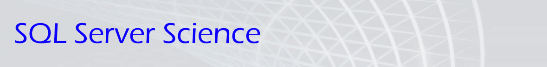 SQL Server Science