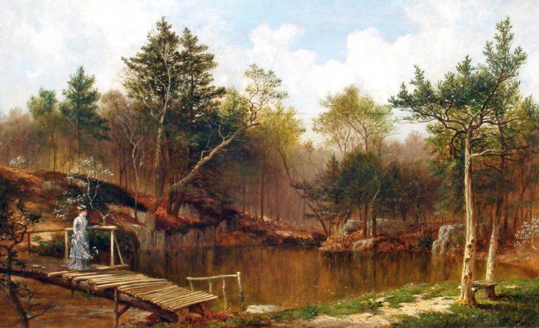David Johnson - Scene on the Hutchinson River - Mount Vernon - 1876